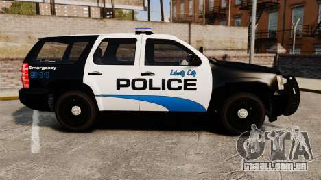 Chevrolet Tahoe Police [ELS] para GTA 4 esquerda vista