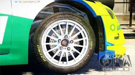 Ford Focus RS M Gronholm Rally Finland WRC para GTA 4 vista direita