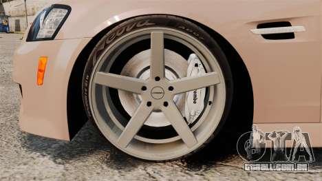 Pontiac G8 GXP [VE] 2009 para GTA 4 vista de volta