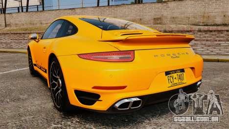 Porsche 911 Turbo 2014 [EPM] Turbo Side Stripes para GTA 4 traseira esquerda vista