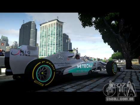 Mercedes F1 W04 para GTA 4 esquerda vista