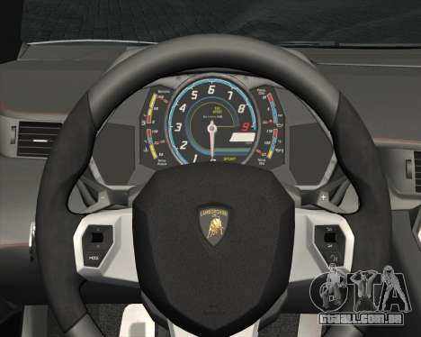 Lamborghini Aventador LP700-4 2012 RCPD V1.0 para GTA San Andreas vista inferior