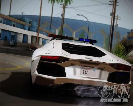 Lamborghini Aventador LP700-4 2012 RCPD V1.0 para GTA San Andreas traseira esquerda vista