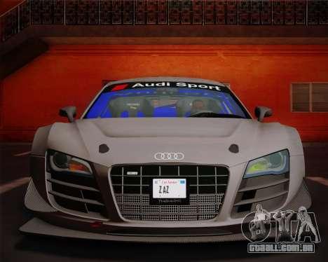 Audi R8 LMS Ultra v1.0.1 DR para GTA San Andreas vista interior