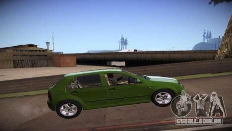 Skoda Fabia para GTA San Andreas esquerda vista