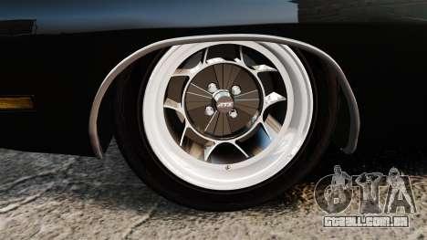 Dodge Charger 1969 para GTA 4 vista de volta