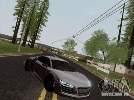 Audi R8 V10 Plus para GTA San Andreas vista interior