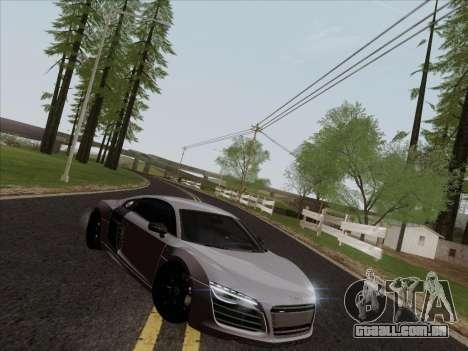 Audi R8 V10 Plus para GTA San Andreas vista interior