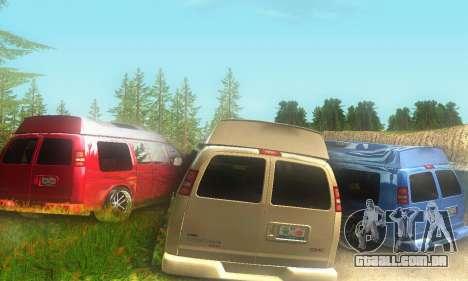 GMC Savana para GTA San Andreas traseira esquerda vista
