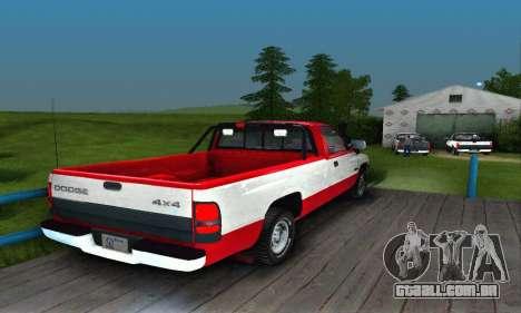 Dodge Ram 2500 para GTA San Andreas vista direita