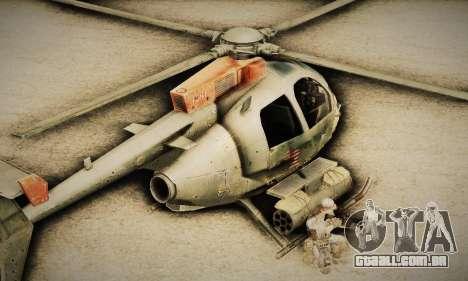 Spec Ops The Line AH6 para GTA San Andreas traseira esquerda vista