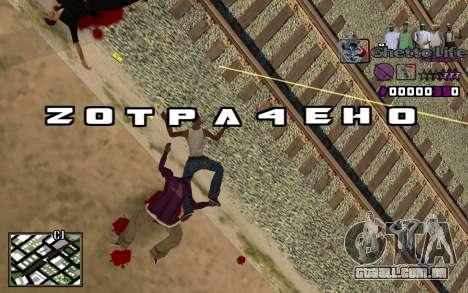 Com a vida de HUD-Getto para GTA San Andreas
