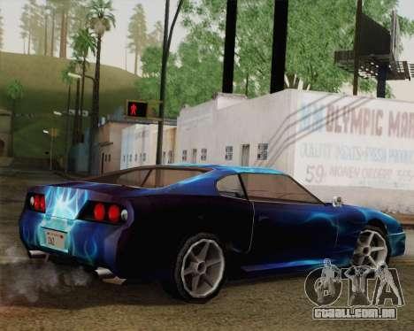 O trabalho de pintura para bobo da corte para GTA San Andreas esquerda vista