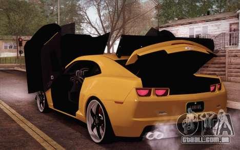 Chevrolet Camaro ZL1 para GTA San Andreas vista traseira