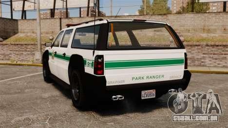 GTA V Declasse Granger Park Ranger para GTA 4 traseira esquerda vista