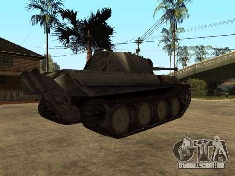 Pzkfpw V Panther para GTA San Andreas vista traseira
