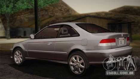 Honda Civic Si 1999 Coupe para GTA San Andreas esquerda vista