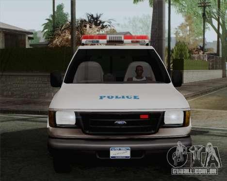 Ford F150 Police para GTA San Andreas traseira esquerda vista
