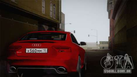 Audi RS5 2012 para GTA San Andreas vista traseira