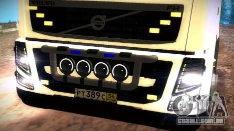 Volvo FH16 para GTA San Andreas vista traseira