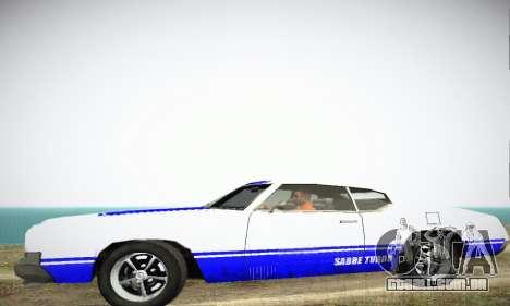 GTA IV Sabre Turbo para GTA San Andreas traseira esquerda vista