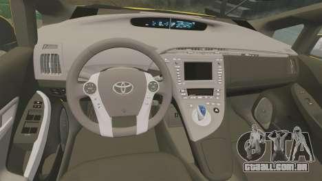 Toyota Prius 2011 Adelaide Taxi para GTA 4 vista lateral