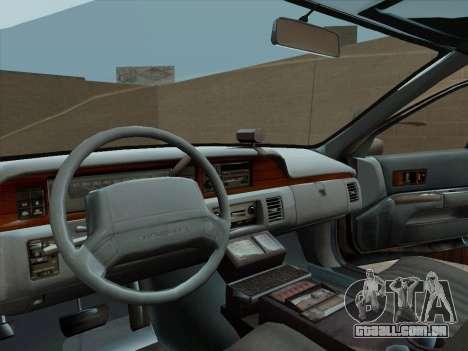 Chevrolet Caprice LAPD 1991 para GTA San Andreas vista direita