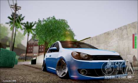 Volkswagen mk6 Stance Work para GTA San Andreas esquerda vista
