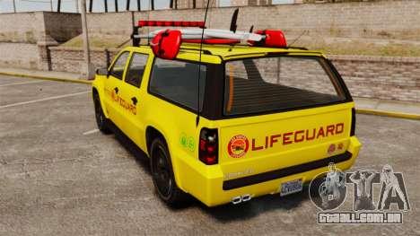 GTA V Declasse Granger 3500LX Lifeguard para GTA 4 traseira esquerda vista