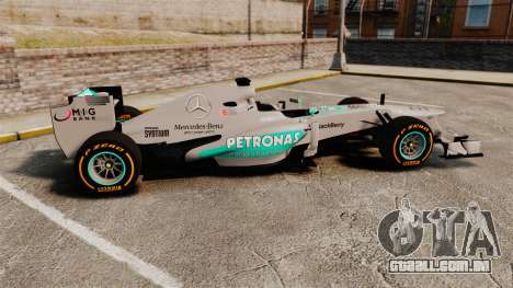 Mercedes AMG F1 W04 v3 para GTA 4 esquerda vista