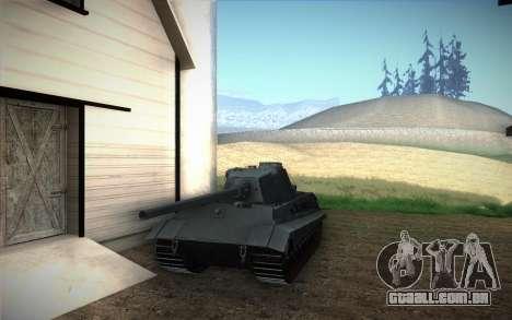 E-75 Tiger III para GTA San Andreas traseira esquerda vista