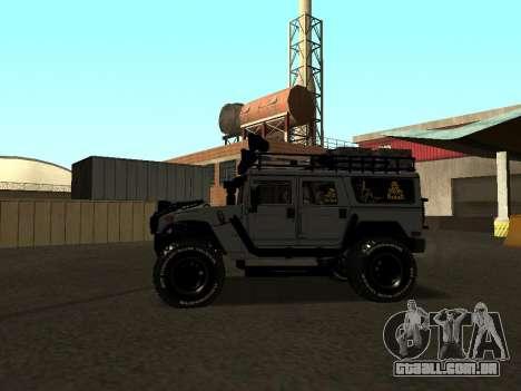 Hummer H1 Offroad para GTA San Andreas esquerda vista
