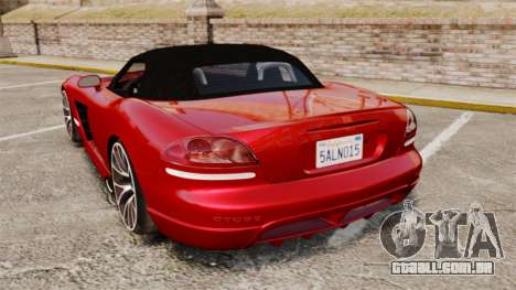 Dodge Viper SRT-10 2003 para GTA 4 traseira esquerda vista