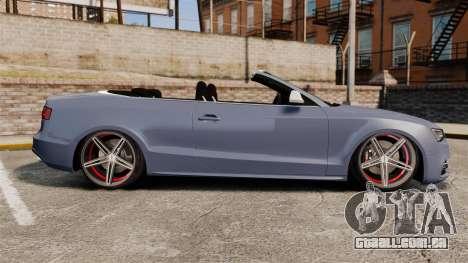Audi S5 Convertible 2012 para GTA 4 esquerda vista