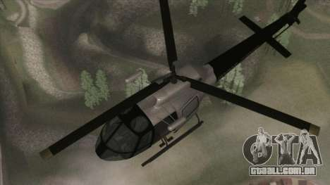 Police Maverick from GTA V para GTA San Andreas vista direita