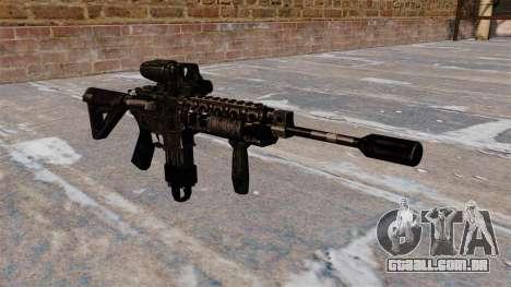 Carabina M4 automática híbrido escopo para GTA 4