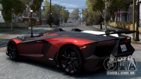 Lamborghini Aventador J 2012 Carbon para GTA 4 vista direita