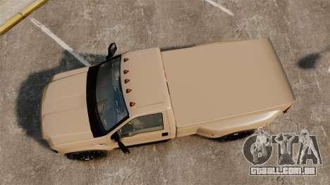 Ford F-350 Pitbull para GTA 4 vista direita