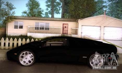 Lamborghini Diablo VT6.0 para GTA San Andreas vista inferior