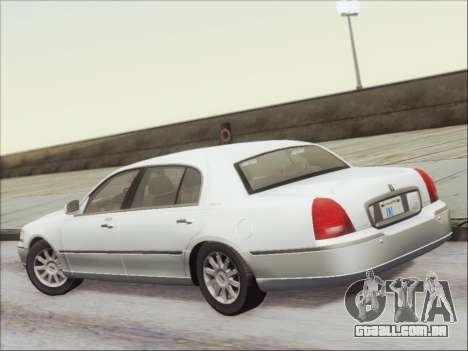 Lincoln Town Car 2010 para GTA San Andreas vista traseira