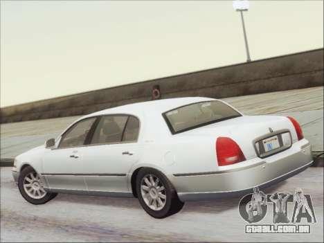 Lincoln Town Car 2010 para GTA San Andreas vista traseira