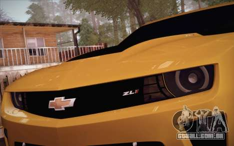 Chevrolet Camaro ZL1 para vista lateral GTA San Andreas