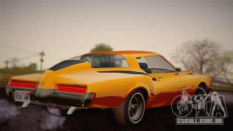 Buick Riviera 1972 Carbine Version para GTA San Andreas esquerda vista
