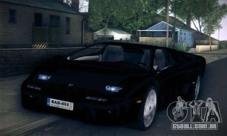Lamborghini Diablo VT6.0 para GTA San Andreas vista direita