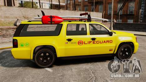 GTA V Declasse Granger 3500LX Lifeguard para GTA 4 esquerda vista
