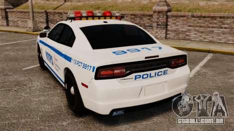 Dodge Charger 2012 NYPD [ELS] para GTA 4 traseira esquerda vista