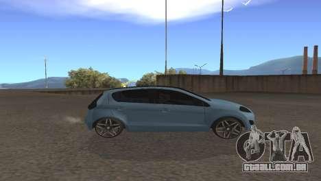 Fiat Palio 2014 para GTA San Andreas traseira esquerda vista
