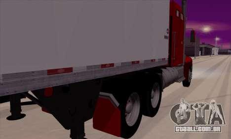 International 9400i Flattop para GTA San Andreas traseira esquerda vista