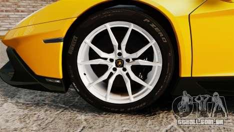 Lamborghini Aventador LP720-4 50th Anniversario para GTA 4 vista de volta
