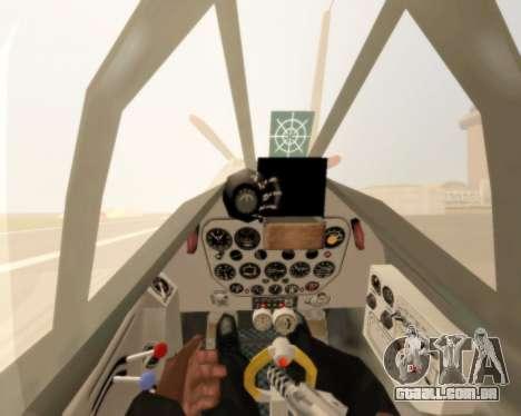 MIG-3 para GTA San Andreas vista traseira